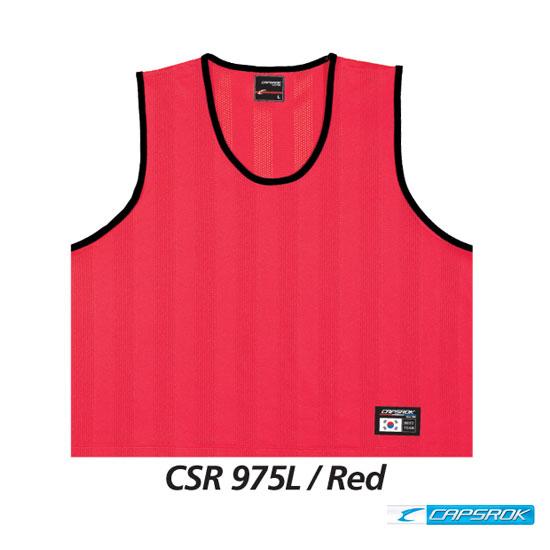[캡스록] 형광 (레드) 팀조끼 CSR-975