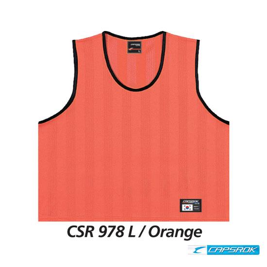 [캡스록] 형광 (오렌지) 팀조끼 CSR-978