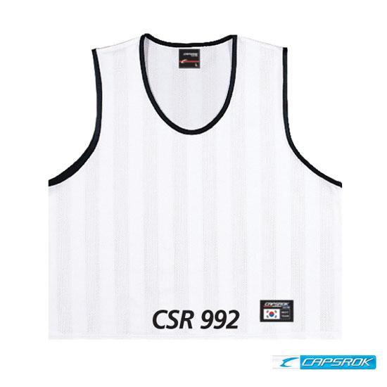 [캡스록] 망사 (흰색) 팀조끼 CSR-992