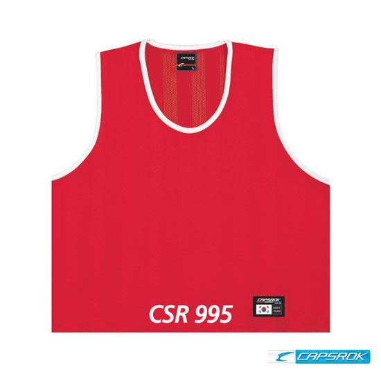 [캡스록] 망사 (적색) 팀조끼 CSR-995