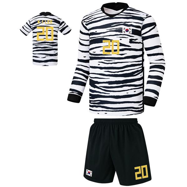 대한민국 어웨이형 20-21 축구유니폼 셋트 [풀마킹/번호/이니셜] FS0342