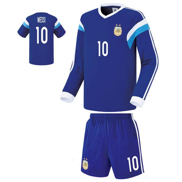 아르헨티나 져지형 15-16 축구유니폼 셋트 [풀마킹/번호/이니셜] FS4421