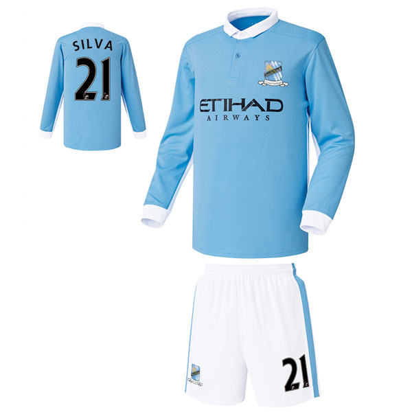 맨시티 홈형 15-16 축구유니폼 셋트 [풀마킹/번호/이니셜] FS5466