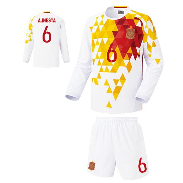스페인 어웨이형 16-17 축구유니폼 셋트 [풀마킹/번호/이니셜] FS5482