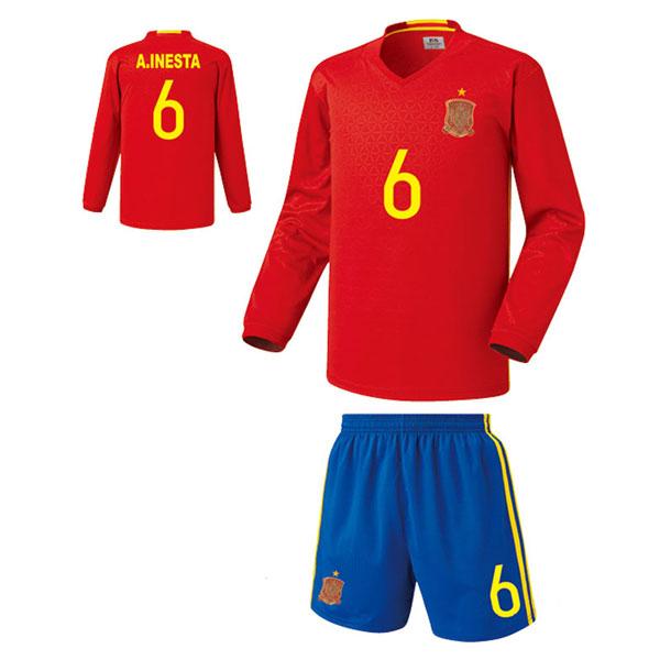 스페인 홈형 16-17 축구유니폼 셋트 [풀마킹/번호/이니셜] FS5485