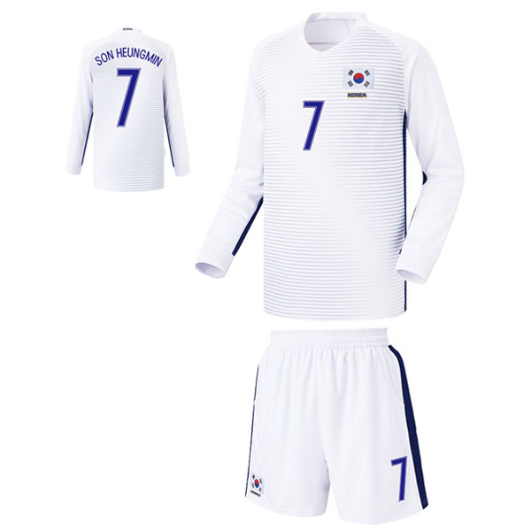 대한민국 어웨이형 16-17 축구유니폼 셋트 [풀마킹/번호/이니셜] FS6342