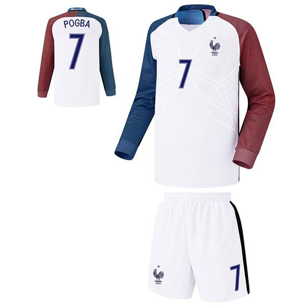 프랑스 어웨이형 16-17 축구유니폼 셋트 [풀마킹/번호/이니셜] FS6372