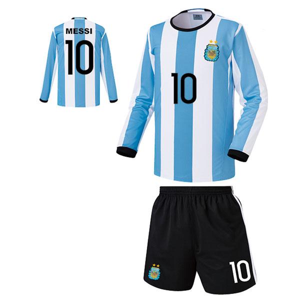 아르헨티나 홈형 16-17 축구유니폼 셋트 [풀마킹/번호/이니셜] FS6426