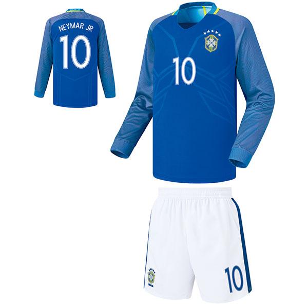 브라질 어웨이형 16-17 축구유니폼 셋트 [풀마킹/번호/이니셜] FS6461