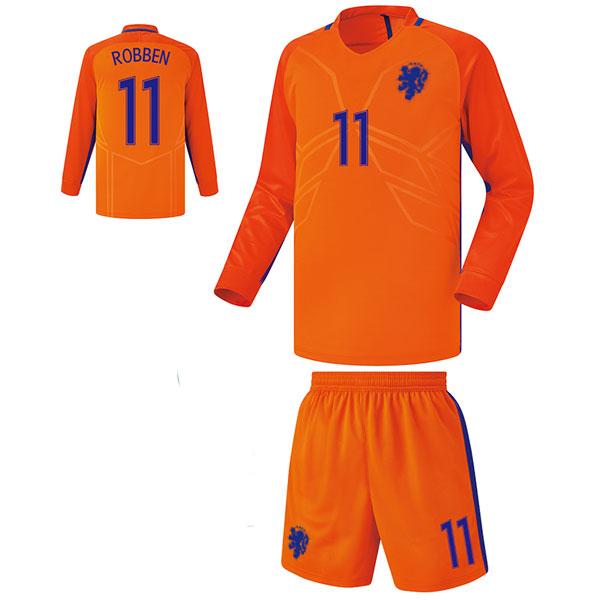 네덜란드 홈형 16-17 축구유니폼 셋트 [풀마킹/번호/이니셜] FS6498
