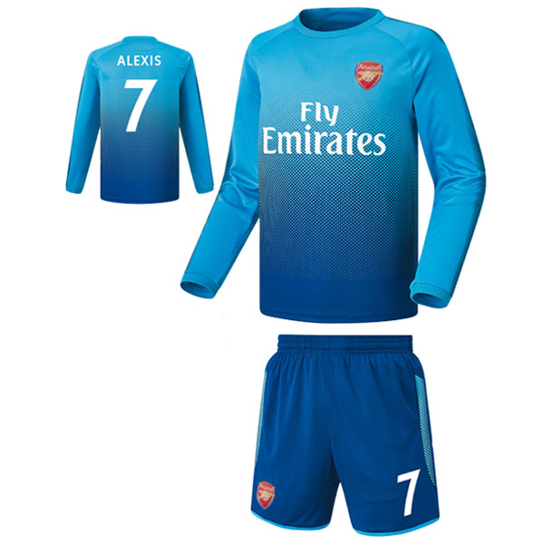 아스날 어웨이형 16-17 축구유니폼 셋트 [풀마킹/번호/이니셜] FS7446