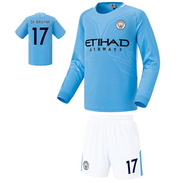맨시티 홈형 17-18 축구유니폼 셋트 [풀마킹/번호/이니셜] FS7466