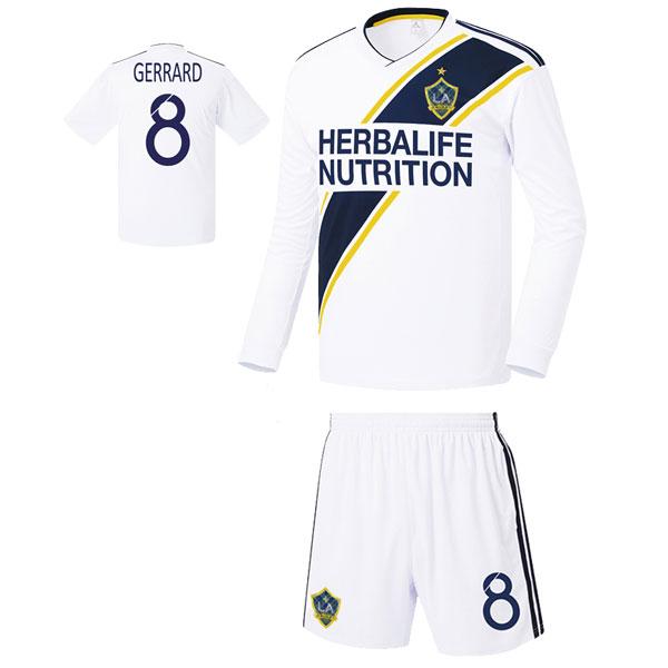 LA갤럭시 홈형 17-18 축구유니폼 셋트 [풀마킹/번호/이니셜] FS8212
