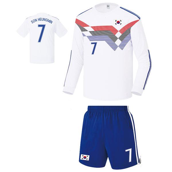 대한민국 져지형 17-18 축구유니폼 셋트 [풀마킹/번호/이니셜] FS8341