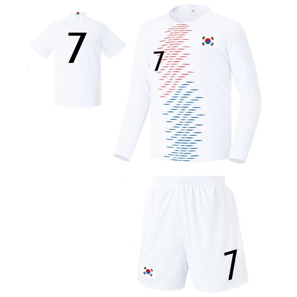 대한민국 어웨이형 18-19 축구유니폼 셋트 [풀마킹/번호/이니셜] FS8342