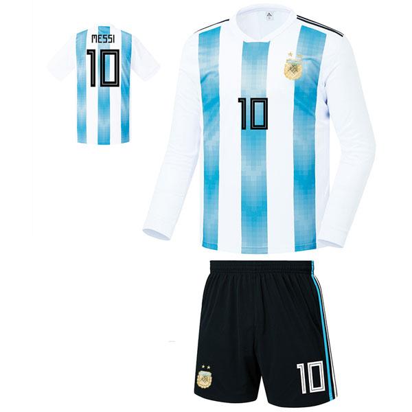 아르헨티나 홈형 17-18 축구유니폼 셋트 [풀마킹/번호/이니셜] FS8426