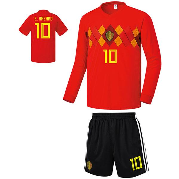 벨기에 홈형 17-18 축구유니폼 셋트 [풀마킹/번호/이니셜] FS8435