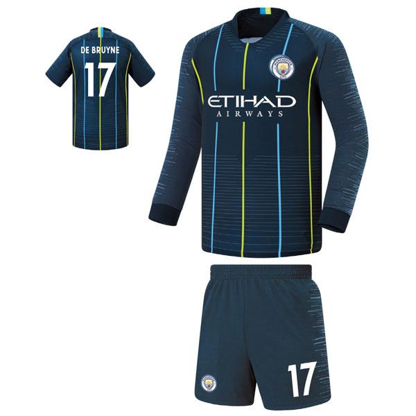 맨시티 어웨이형 18-19 축구유니폼 셋트 [풀마킹/번호/이니셜] FS8460