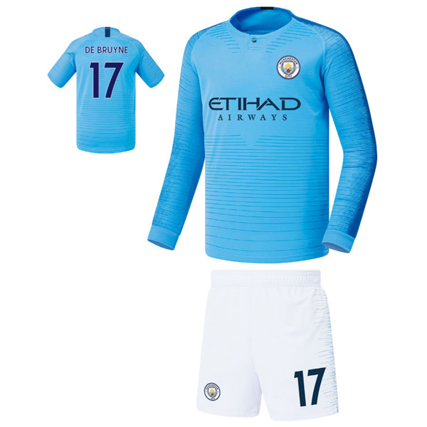 맨시티 홈형 18-19 축구유니폼 셋트 [풀마킹/번호/이니셜] FS8466