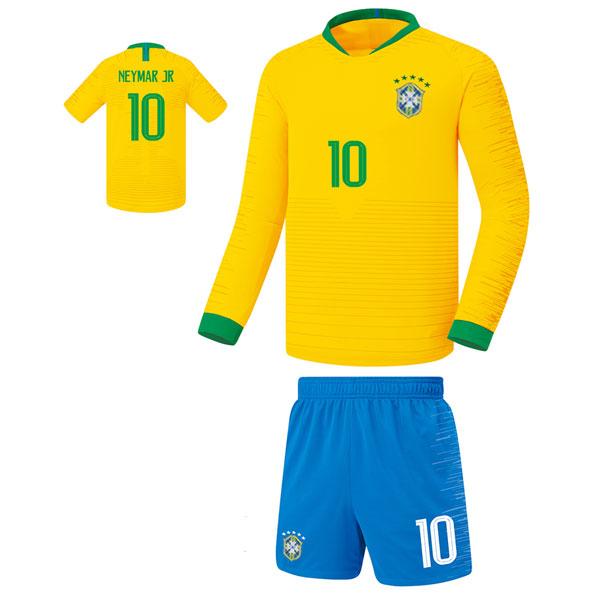 브라질 홈형 18-19 축구유니폼 셋트 [풀마킹/번호/이니셜] FS8467