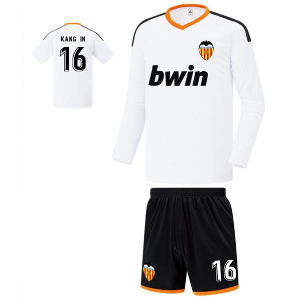 발렌시아 홈형 19-20 축구유니폼 셋트 [풀마킹/번호/이니셜] FS9142