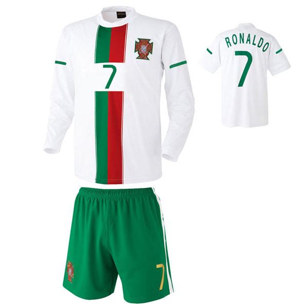 포루투갈 어웨이형 축구유니폼 셋트 [풀마킹/번호/이니셜] HTT1055