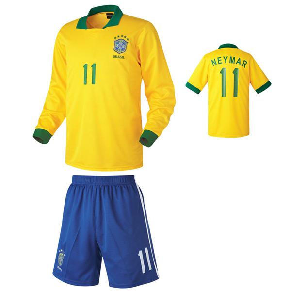 브라질 홈형 13-14 축구유니폼 셋트 [풀마킹/번호/이니셜] HTT330