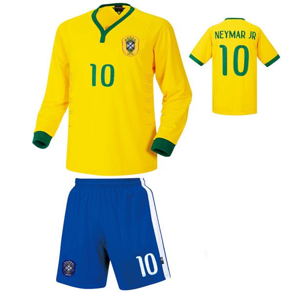 브라질 홈형 14-15 축구유니폼 셋트 [풀마킹/번호/이니셜] HTT331