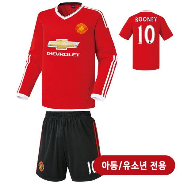맨유 홈형 15-16 축구유니폼 셋트 [풀마킹/번호/이니셜] <BR>★아동/유소년용★<BR>HTT33