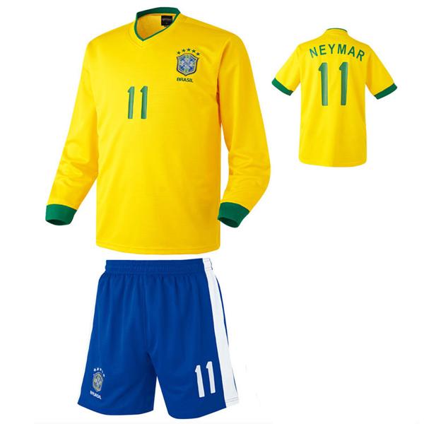 브라질 홈형 축구유니폼 셋트 [풀마킹/번호/이니셜] HTT348