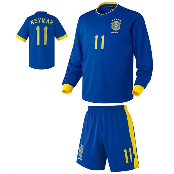 브라질 어웨이형 축구유니폼 셋트 [풀마킹/번호/이니셜] HTT349