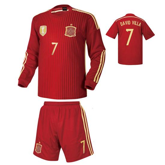 스페인 홈형 14-15 축구유니폼 셋트 [풀마킹/번호/이니셜] HTT380