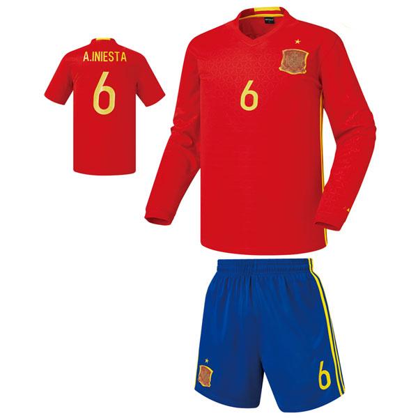 스페인 홈형 16-17 축구유니폼 셋트 [풀마킹/번호/이니셜] 기능성원단 HTT384