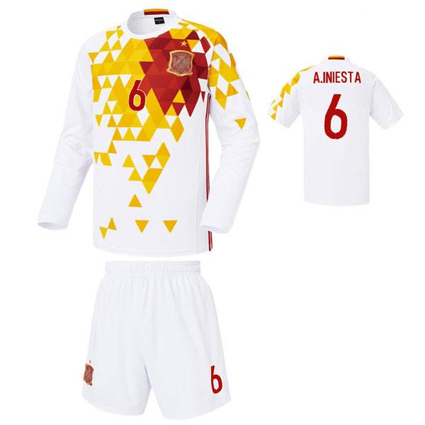 스페인 어웨이형 16-17 축구유니폼 셋트 [풀마킹/번호/이니셜] 기능성원단 HTT385