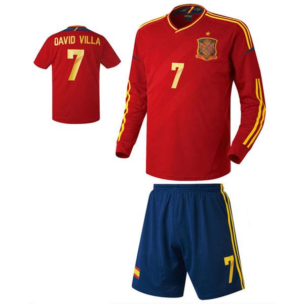 스페인 홈형 축구유니폼 셋트 [풀마킹/번호/이니셜] HTT393