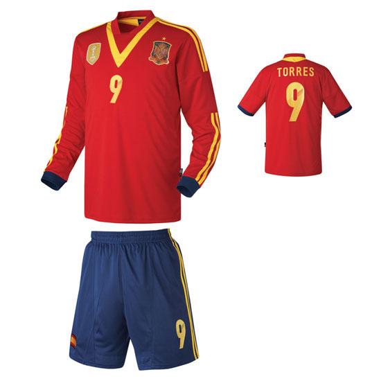 스페인 홈형 13-14 축구유니폼 셋트 [풀마킹/번호/이니셜] HTT397