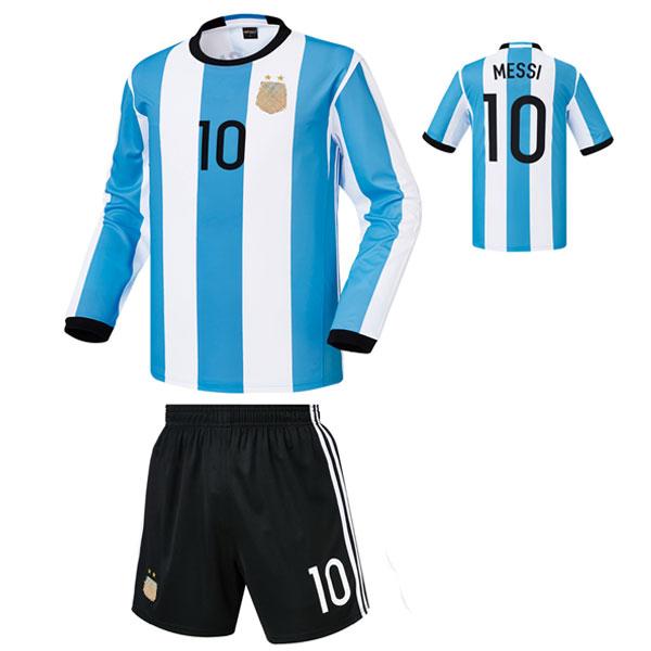 아르헨티나 홈형 16-17 축구유니폼 셋트 [풀마킹/번호/이니셜] 기능성원단 HTT484