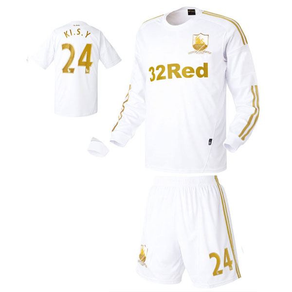 스완지 시티 홈형 12-13 축구유니폼 셋트 [풀마킹/번호/이니셜] HTT620