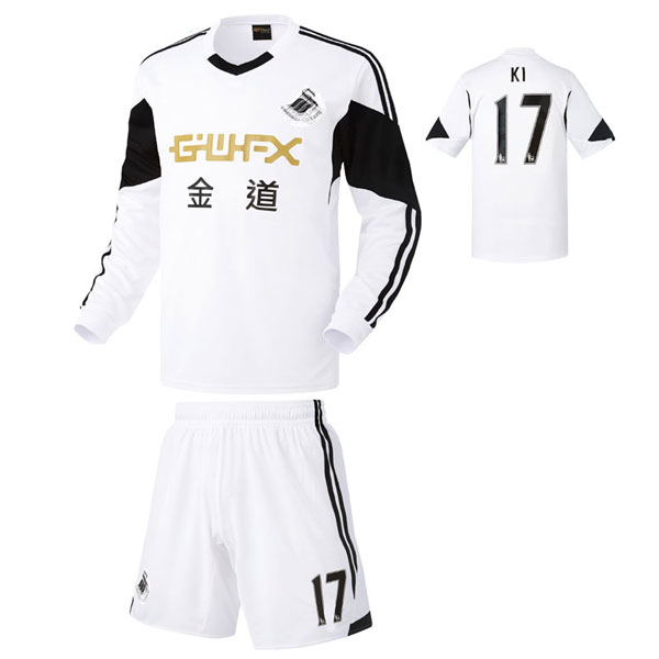 스완지 시티 홈형 13-14 축구유니폼 셋트 [풀마킹/번호/이니셜] HTT621