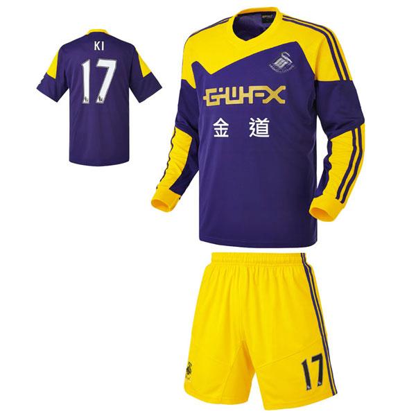 스완지 시티 어웨이형 13-14 축구유니폼 셋트 [풀마킹/번호/이니셜] HTT622