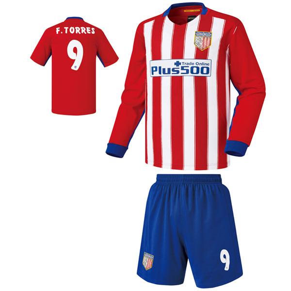 아틀레티코 마드리드 홈형 15-16 축구유니폼 셋트 [풀마킹/번호/이니셜] 기능성원단 HTT745