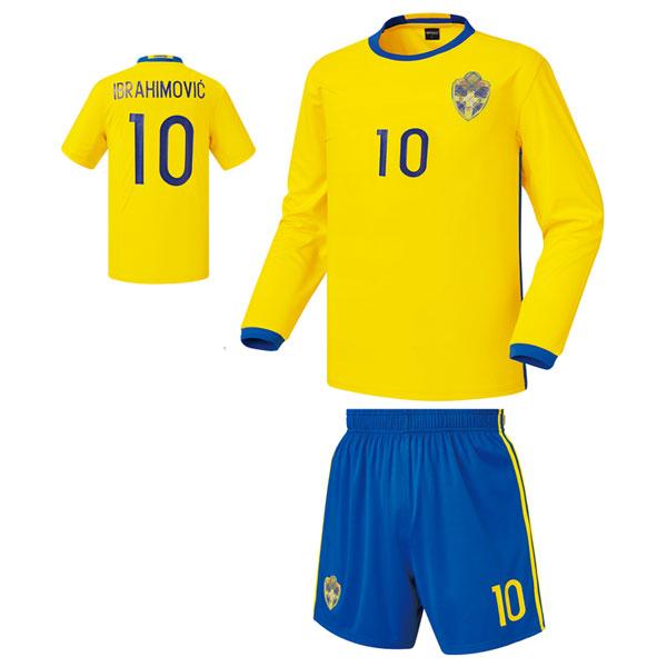 스웨덴 홈형 16-17 축구유니폼 셋트 [풀마킹/번호/이니셜] 기능성원단 HTT820