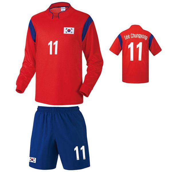 대한민국 홈형 14-15 축구유니폼 셋트 [풀마킹/번호/이니셜] NTT241H