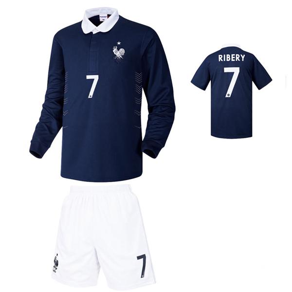 프랑스 홈형 14-15 축구유니폼 셋트 [풀마킹/번호/이니셜] NTT261H