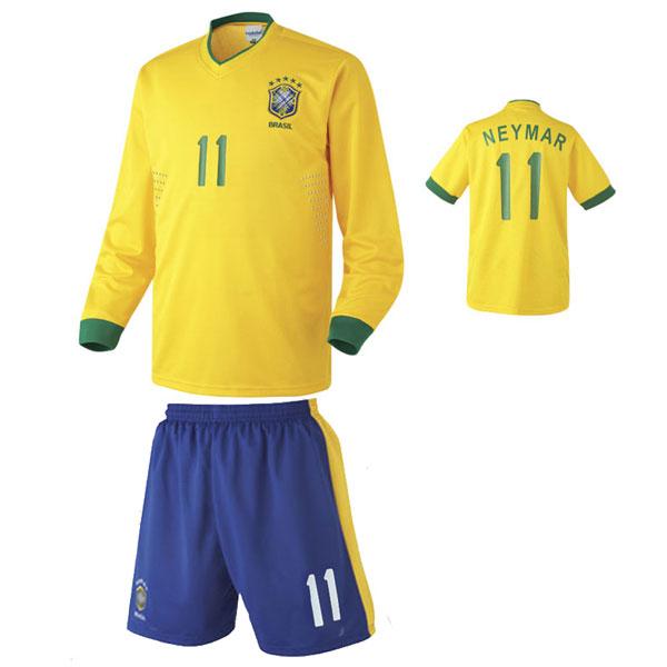 브라질 홈형 12-13 축구유니폼 셋트 [풀마킹/번호/이니셜] NTT270H