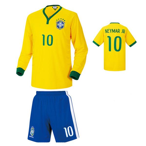 브라질 홈형 14-15 축구유니폼 셋트 [풀마킹/번호/이니셜] NTT272H