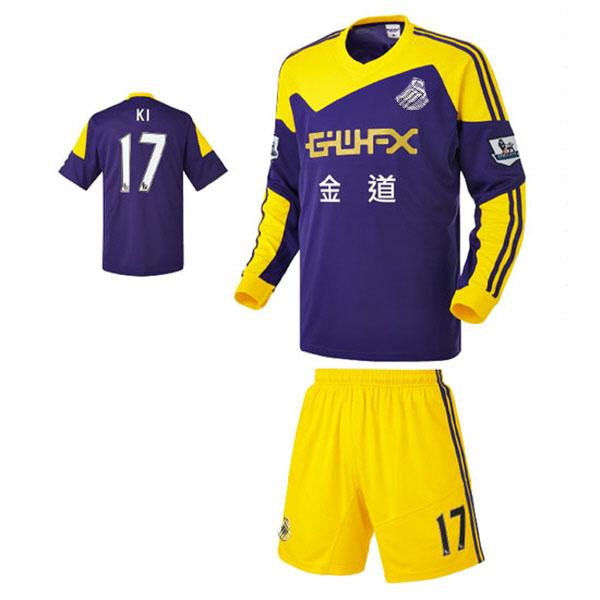 스완지 시티 어웨이형 13-14 축구유니폼 셋트 [풀마킹/번호/이니셜] NTT471A