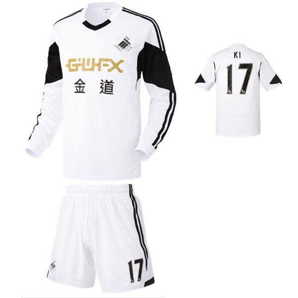 스완지 시티 홈형 13-14 축구유니폼 셋트 [풀마킹/번호/이니셜] NTT471H