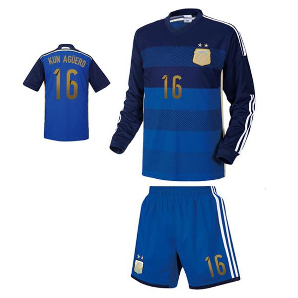 아르헨티나 어웨이형 14-15 축구유니폼 셋트 [풀마킹/번호/이니셜] NTT92A