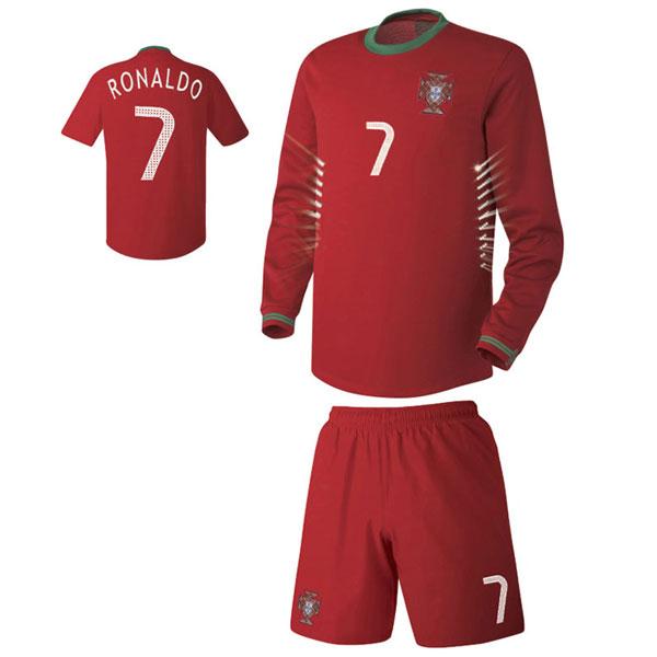 포르투갈 홈형 축구유니폼 셋트 [풀마킹/번호/이니셜] UTU130